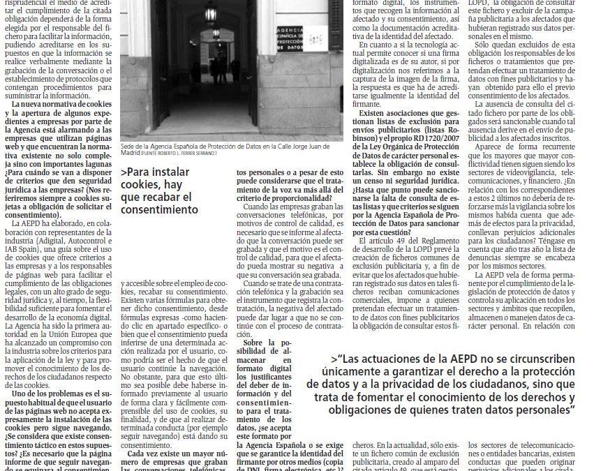 Entrevistamos al Director de la Agencia Española de Protección de Datos para Diario del AltoAragón